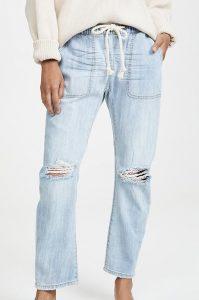 Shabbies Drawstring Boyfriend Jeans