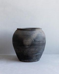 Brushed Charcoal Vase
