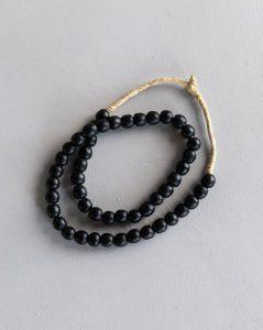 Found Inky Black Beads