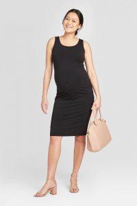 Sleeveless T-Shirt Maternity Dress