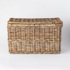 Lidded Kooboo Rattan Basket