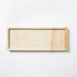 Decorative Wood Stone Tray