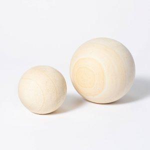 Decorative Stone Wood Ball