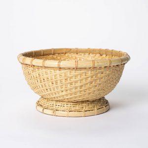 Round Bamboo Woven Bowl Natural
