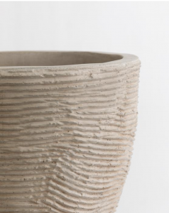 Textured Concrete Pot