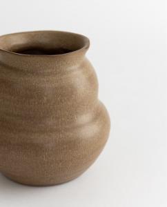 Sculpted Stoneware Vase