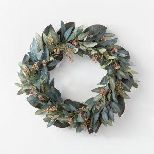 Artificial Olive/Eucalyptus Wreath