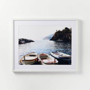 Docked Boats Framed Wall Art