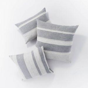 Woven Asymmetric Striped
