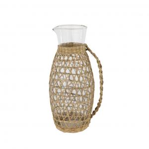 Samos Seagrass & Glass Pitcher