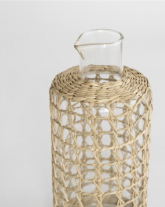 Seagrass Wrapped Carafe
