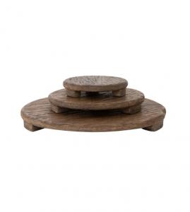 Mango Wood Carved Pedestal