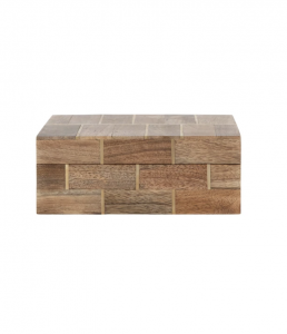 Wood Brass Box