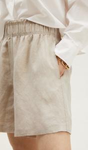 Linen-Blend Pull-On Shorts