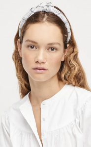 Knot Headband in Printed Cotton Voile