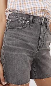 High-Rise Mid-Length Denim Shorts in Brayton Wash
