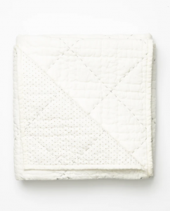 Cream Quilted Blanket