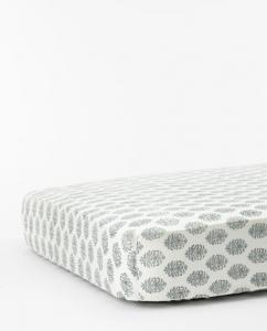 Blue Floral Crib Sheet