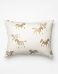 Watercolor Horses Pillow Cover