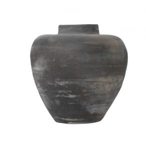 Matte Gray Tapered Jar