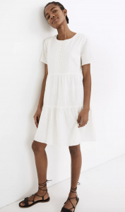 Similar: Embroidered Eyelet Button-Front Tiered Mini Dress
