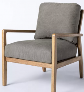 Dagget Mixed Material Accent Chair