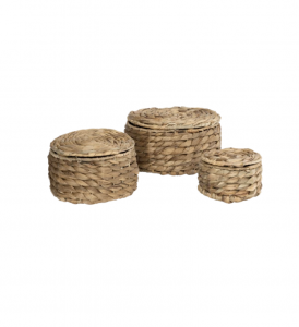 Natural Woven Baskets (Set of 3)