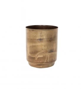 Distressed Brass Pots
