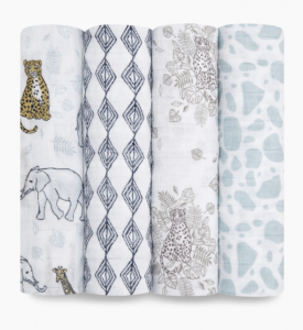 Classic Cotton Muslin Swaddle (4 Pack)
