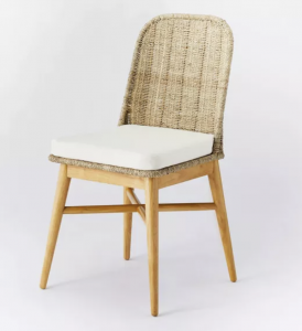 Juniper Woven Dining Chair with Cushion Natural