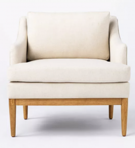 Howell Upholstered Accent Chair with Wood Base