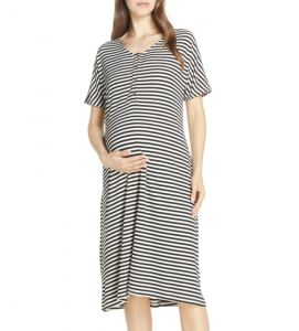 Maternity/Nursing Ribbed Nightshirt