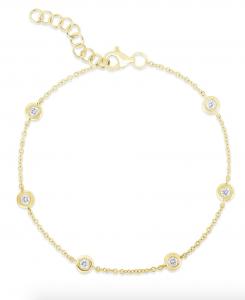 Diamond Bezel Station Bracelet