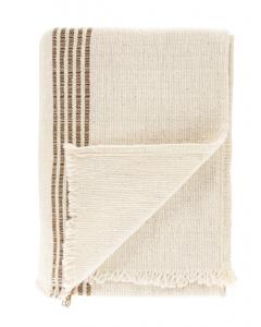 Helena Soft Fringe Camel & Cream Blanket