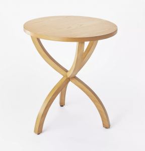Mesa Verde Knock Down Wood Curved Leg Accent Table Natural