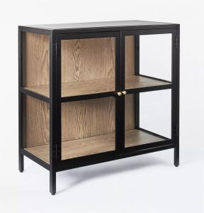 Crystal Cove Glass Cabinet Black