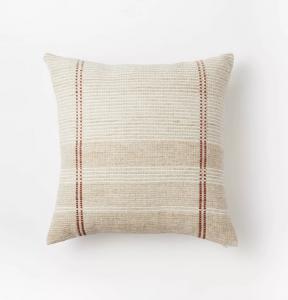 Woven Striped Throw Pillow Neutral
