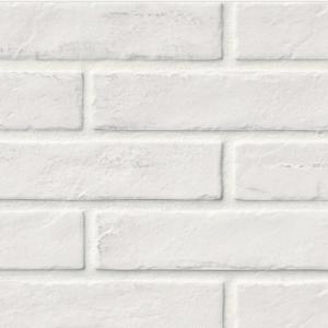 Capella White Wash Brick 2 x 10 in. Matte Porcelain Floor Wall Tile