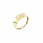 14K Gold Concave Graduated Ring