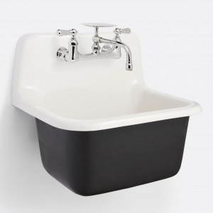 Grizzly Cast Iron Utility Sink With Drain and Faucet