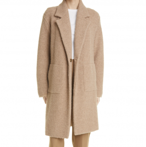 Merino Wool Blend Longline Cardigan