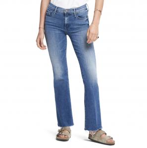 Fray Hem Bootcut Jeans