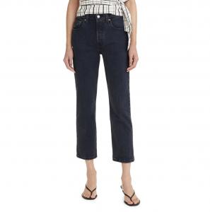 High Waist Crop Straight Leg Jeans