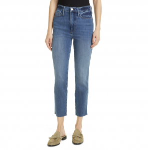 Le Sylvie Crop Straight Raw Edge Jeans