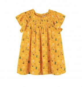 Kids' Allover Print Crinkle Dress