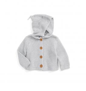 Baby Organic Cotton Hooded Cardigan