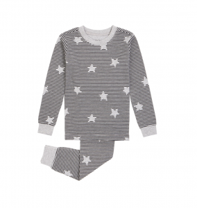 Kids' Stars & Stripes Cotton Fitted Two-Piece Pajamas