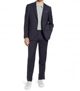 Jay Slim Fit Pencil Stripe Stretch Wool Suit
