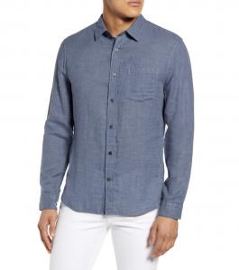 Regular Fit Double Face Button-Up Shirt