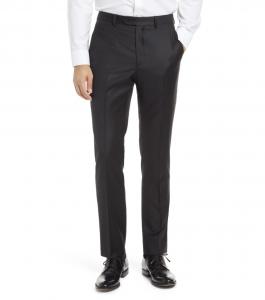 Roma Flat Front Wool Dress Pants